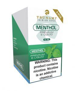 Tsunami Menthol flavored E-liquid nicotine