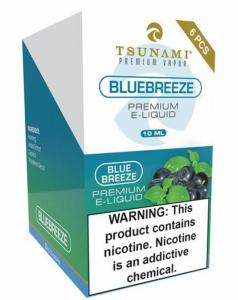Tsunami Blue Breeze flavored E-Liquid nicotine